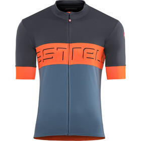Castelli Prologo VI Kurzarm Trikot Herren dark blue/orange/light blue